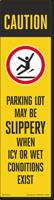 FlexPost Caution Slippery Parking Lot Decal