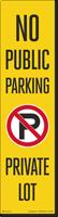 FlexPost No Public Parking Decal