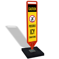 Caution Possible Icy Conditions Portable FlexPost
