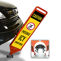 FlexPost Caution Possible Icy Conditions Paddle