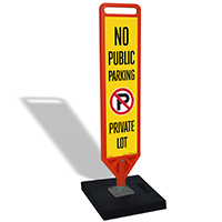 FlexPost No Public Parking Paddle Portable