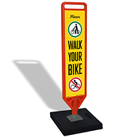 FlexPost Please Walk Your Bike Paddle Portable