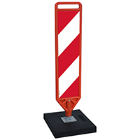 FlexPost Red White Delineator Paddle Portable