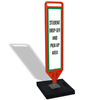 FlexPost Student Drop-Off Area Paddle Portable