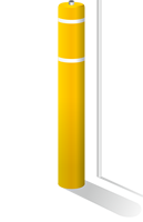 FlexBollard with 8ft Parking Signpost