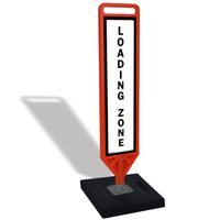 FlexPost Loading Zone Portable Base Paddle Sign Kit