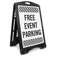 Free Event Parking Sidewalk Sign