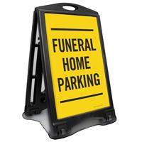 Funeral Home Parking Sidewalk Sign