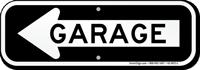 Garage Sign With Left Arrow