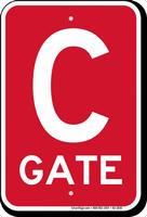 Gate C Gate ID Sign
