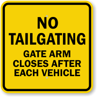 Gate Arm Closes After Each Vehicle Sign