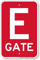 Gate E Gate ID Sign