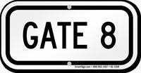 GATE 8 Sign