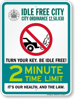 State Idle Sign for Salt Lake City, Utah