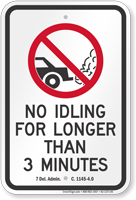 State Idle Sign for Delaware