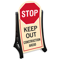 Keep Out Contruction Area Sidewalk Sign Kit