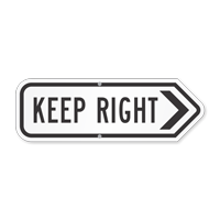 Keep Right Directional Sign