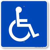 Large Handicapped symbol Sign