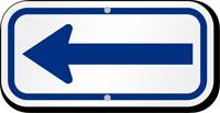 Blue Directional Supplemental Parking Sign