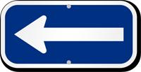Blue Reversed Directional Supplemental Parking Sign