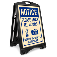 Lock All Doors Remove Valubles Sidewalk Sign Kit