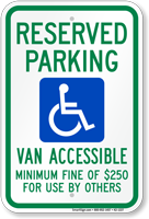 Nevada Reserved Parking, Van Accessible Sign