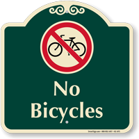 No Bicycles Signature Sign