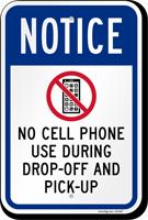 No Cell Phone OSHA Notice Sign
