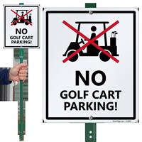 No Golf Cart Parking LawnBoss Sign