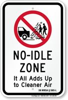 State Idle Sign for Maine