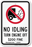 State Idle Sign for Minneapolis, Minnesota