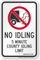 State Idle Sign for Kansas