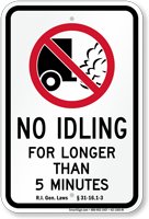 State Idle Sign for Philadelphia, Heavy Diesel Vehicles