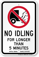 State Idle Sign for Texas