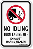 State Idle Sign for Missouri, 10 CSR 10-2.385