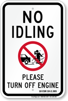 State Idle Sign for New Hampshire