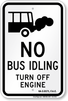 No Idling Sign for Florida
