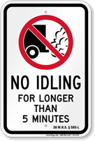 No Idling Sign for Maine