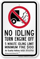 Idle Sign for Maricopa County, Arizona
