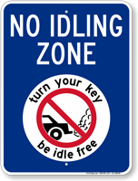 State Idle Sign for Michigan, Red Background