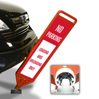 No Parking Loading Unloading FlexPost Paddle Sign Kit