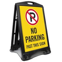 No Parking Past This Sidewalk Sign