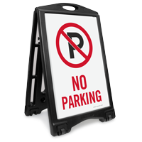 No Parking Portable Sidewalk Sign