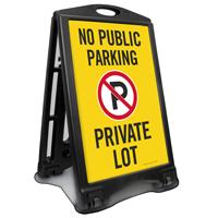 No Public Parking Private Lot Sidewalk Sign