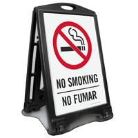 No Smoking Bilingual Sidewalk Sign