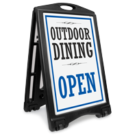 Outdoor Dining Open Sidewalk Sign