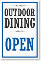 Outdoor Dining Open