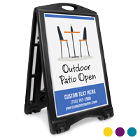 Outdoor Patio Open BigBoss Portable Custom Sidewalk Sign