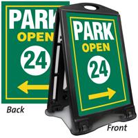 Park Open 24 Portable A-Frame Sidewalk Sign Kit