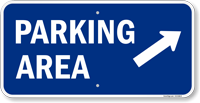 Parking Area Arrow Direction Sign